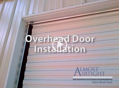 Overhead Door Installation showing versatility of the Almost Airtight Seal Brush